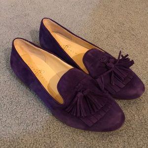 Purple Suede Flats